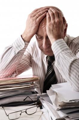 overwhelmed senior